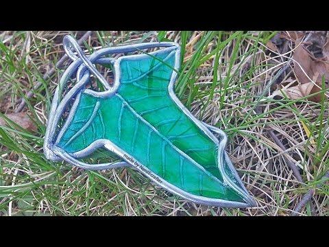 ELVEN LEAF BROOCH LotR Resin & Polymer Clay Tutorial