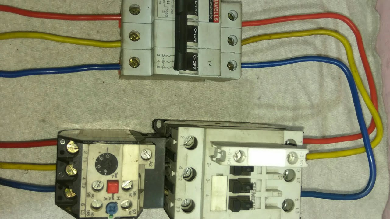 DOL Starter Power Wiring Diagram की जानकारी हिंदी में