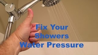 How to Fix Your Weak Water Pressure