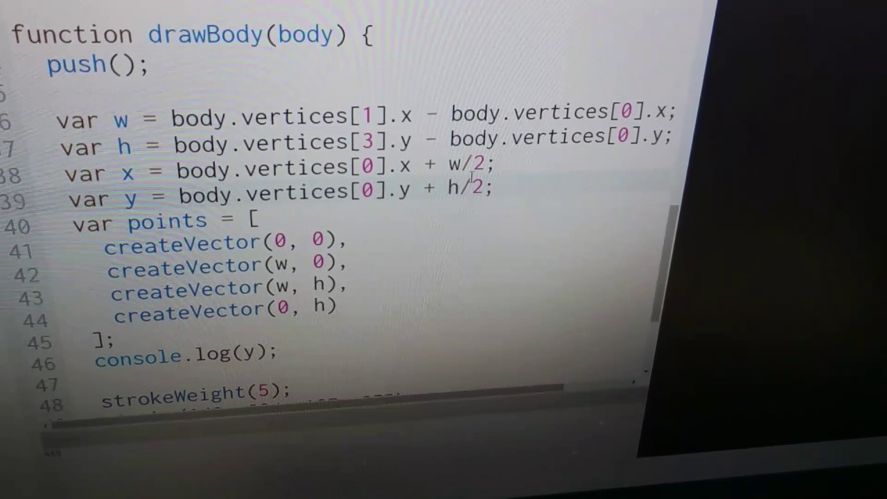 Simple Physics  Translating from Lua into JavaScript