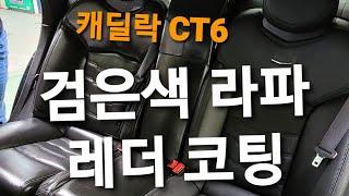 캐딜락 CT6 검은색 라파 가죽 코팅
