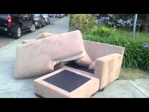 Giant Couch Dumped At Palm & Euclid Oakland