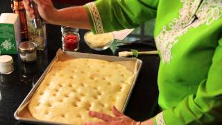 Foccacia Recipe With Cheese, Herbs & Tomato : Snacks & Sweets