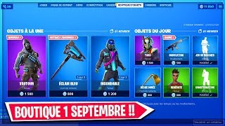FORTNITE BOUTIQUE of SEPTEMBER 1, 2019! NEW SKIN VAUTOUR!
