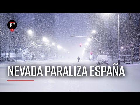 España, paralizada por la peor nevada en 50 años - El Espectador