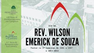 Palavra do Rev. Wilson Emerick de Souza