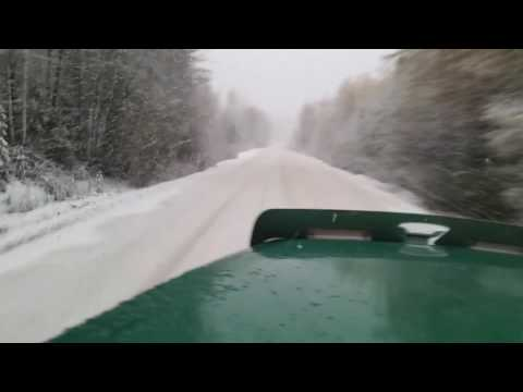Ice road trucking Fort St James BC, Canada