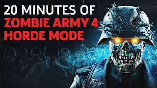 20 Minutes Of Zombie Army 4: Dead War Solo Horde Mode Gameplay