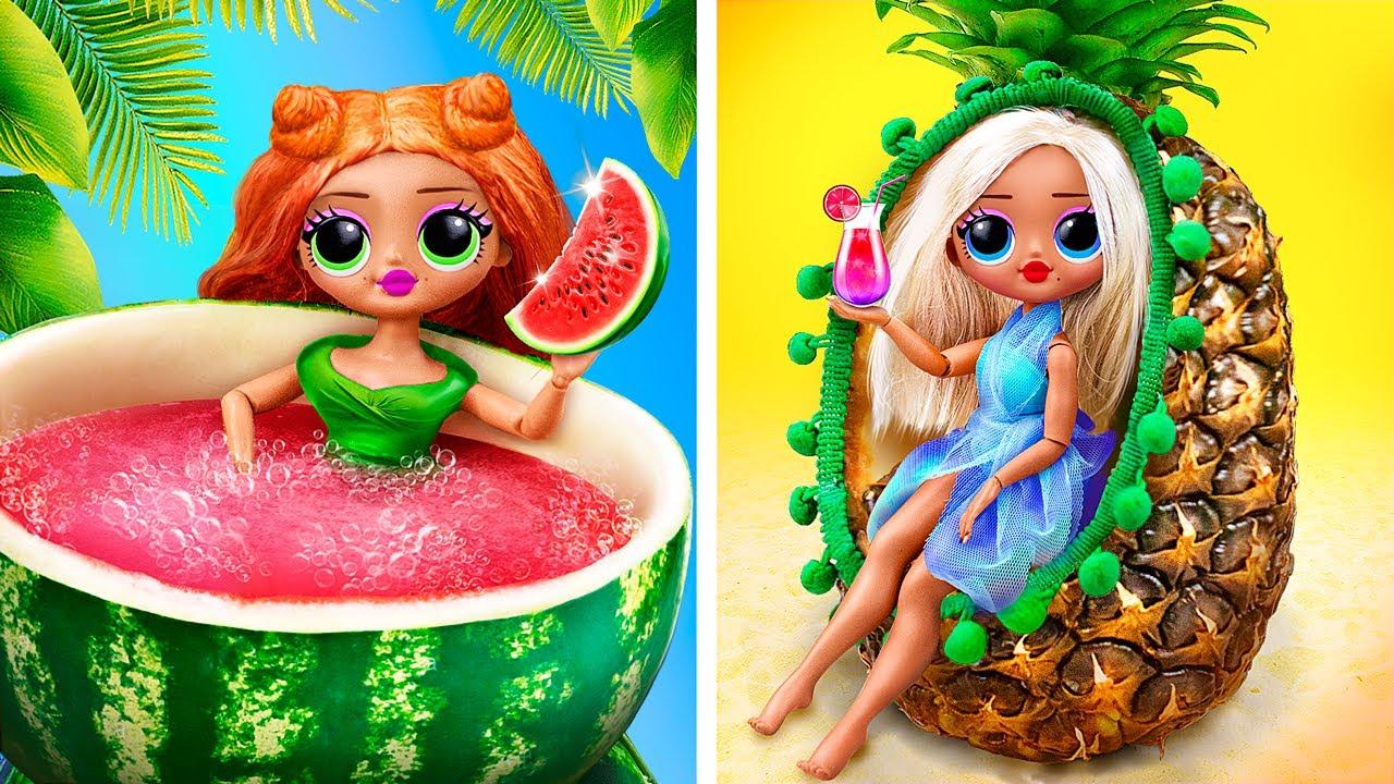 10 Summer Barbie and LOL Surprise DIYs