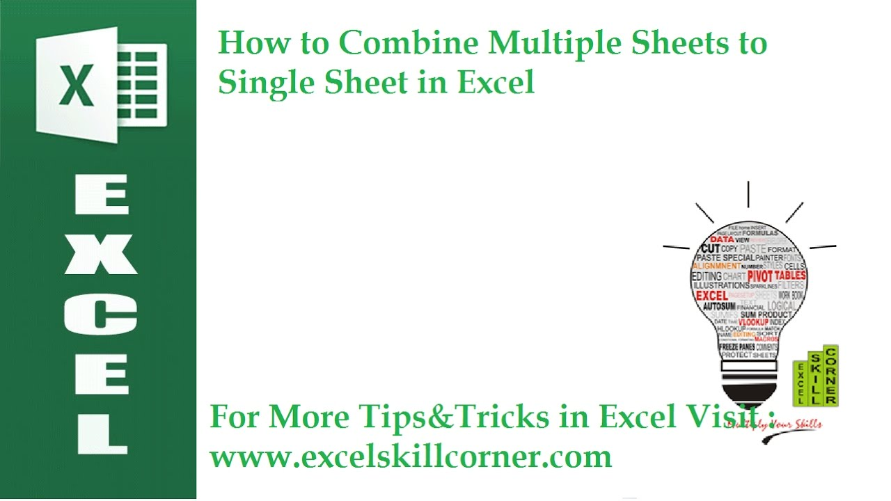 worksheet Combine Worksheets In Excel how to combine multiple sheets single sheet in excel hd youtube hd