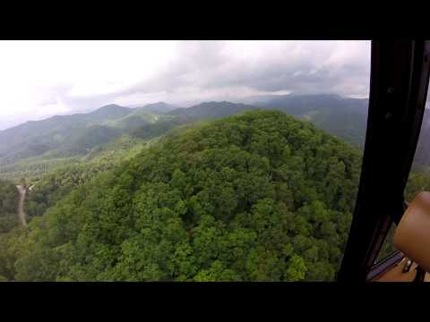 Helicopter ride over the Smoky Mountains