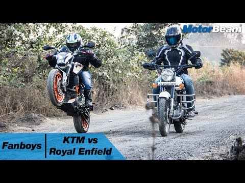 KTM vs Royal Enfield - Fanboys | MotorBeam
