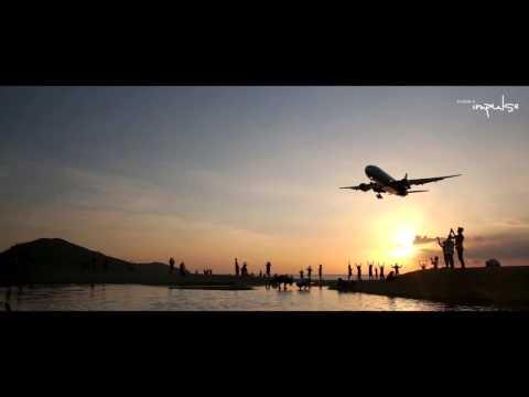 Phuket Airport Landing , Naiyang Beach Thailand Beautiful Phuket Beach
