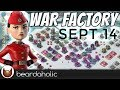 Boom Beach Gearheart War Factory Unboosted for Sept 14, 2017 and Day 2 of the TF Tournament