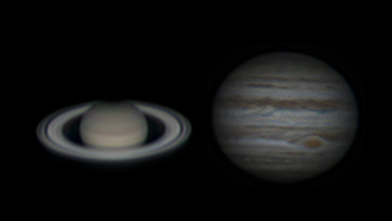 Saturn And Jupiter Through Sky Watcher 150 750 Saturne