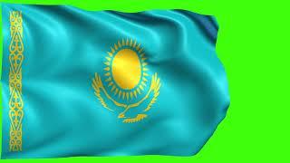 Kazakhstan Flag [Chroma, Green Screen, Blue Screen]