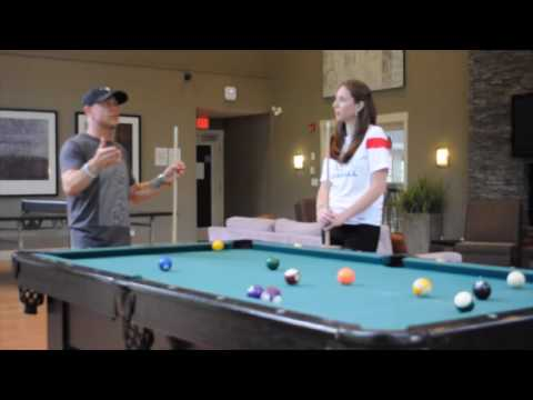 Playing Pool with Aaron Pritchett