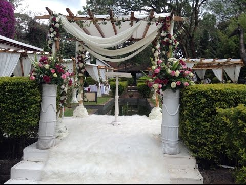 Linens & Decor - Party Pergola - Luxury Wedding Design Karen Country Lodge - Nairobi