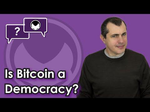 Bitcoin Q&A: Is Bitcoin a democracy?