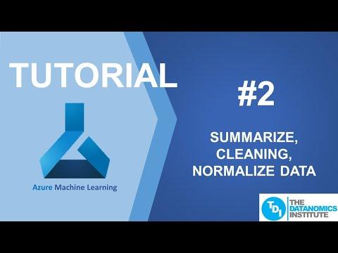 Azure ML - Cara untuk Summarize Data, Normalize Data, Cleaning Data