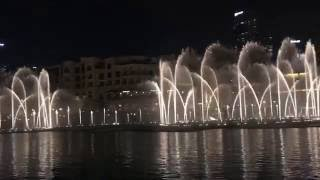 Dubai Mall Fountain Choreography Show - The Prayer Celine Dion and Andrea Bocelli