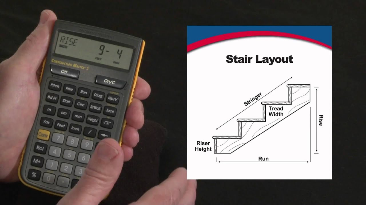 Construction Master 5 Stair Layout Calculations How To