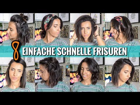 8 EINFACHE & SCHNELLE FRISUREN für den Alltag |OHNE FLECHTEN | Geeignet für kurze Haare