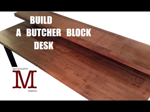 Making A Butcher Block Desk 003