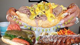 Beast Mode Mukbang BBQ Baby Back Ribs, Italian Beef, Maxwell Polish