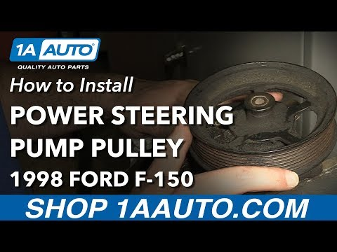 How to Install Replace Power Steering Pump Pulley 1998 Ford F-150