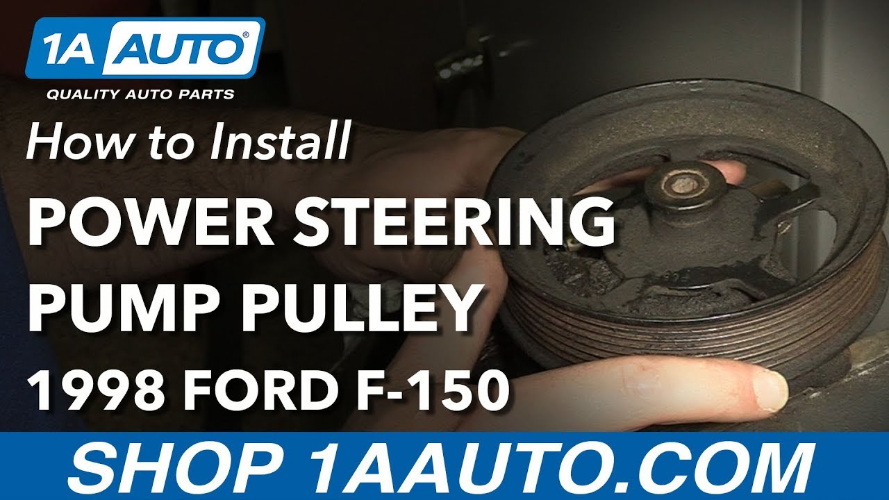 How To Replace Power Steering Pump Pulley 97 04 Ford F 150 Youtube 1998 4 2l Wiring Harness