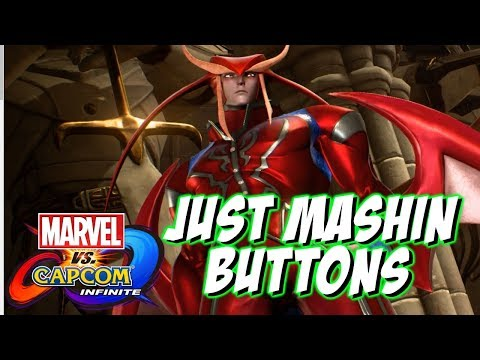 JUST MASHIN' BUTTONS - Marvel vs Capcom Infinite Online Matches - 동영상