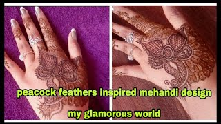 Step by step simple  mehandi design for hands for beginners /my glamorous world