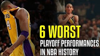 6 WORST Playoff Performances In NBA History