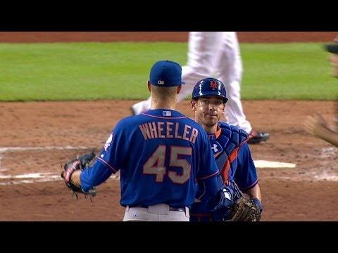 NYM@MIA: Wheeler gets lineout to complete shutout