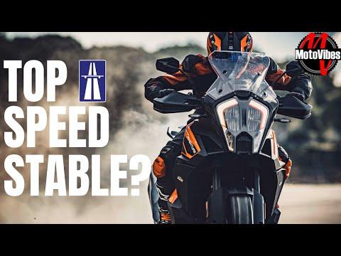 TOP SPEED TEST 2021 KTM 1290 SUPER ADVENTURE S // German AUTOBAHN // High Speed Wobble?