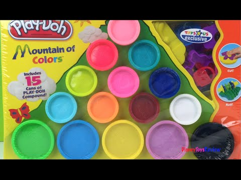 Playdoh Mountain of Colors - Toys R Us exclusive playdough set by DisneyToysReview