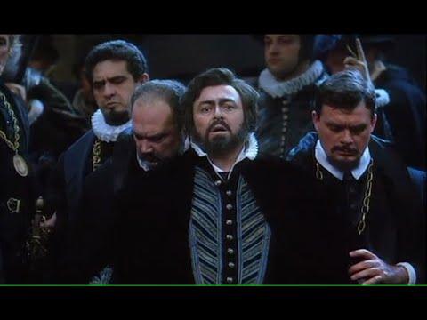 Giuseppe Verdi -  Don Carlos. Opera. Luciano Pavarotti at Teatro alla Scala, live 1992, Part 1