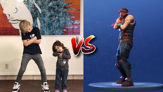 FORTNITE DANCE CHALLENGE (In real life) with my little Sister!!!