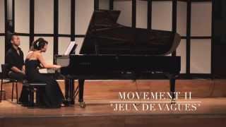 """C. Debussy:  La Mer - Movement II  """"Jeux de vagues""""  [Piano four hands]"""