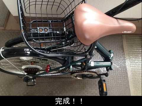 折りたたみ自転車たたみ方パンクした折りたたみ自転車を車に載せる為に3年ぶりにたたんでみました JEEP