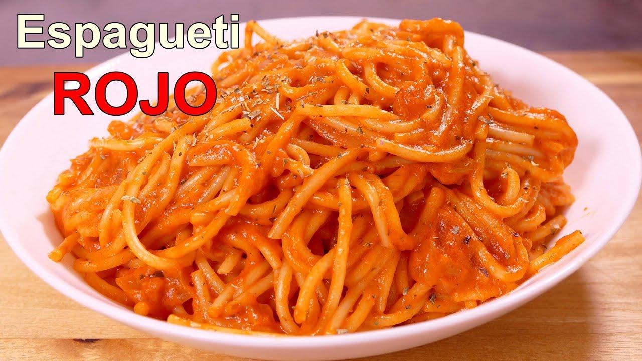 espagueti rojo con tomate recetas de cocina faciles