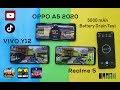 Battery Drain Test of Realme 5 vs Oppo A5 2020 vs Vivo Y12 | 5000 mAh Battery Drain | 100% to 0%