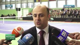 Открытие обновленных кортов в Школе тенниса в Кишиневе