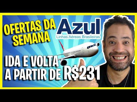 (AZUL) EM PROMOÇÃO RELÂMPAGO HOJE! PASSAGENS IDA E VOLTA A PARTIR DE R$231!