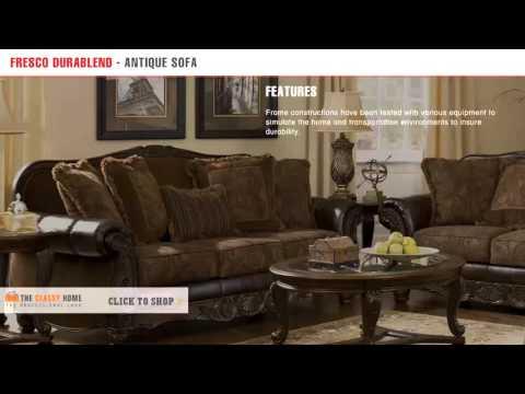 Ashley Furniture Fresco DuraBlend Traditional Antique Fabric Sofa