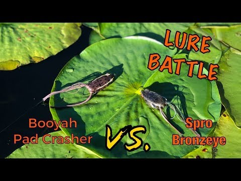 LURE BATTLE EP. 1 | Booyah Padcrasher Vs. Spro Bronzeye Frog