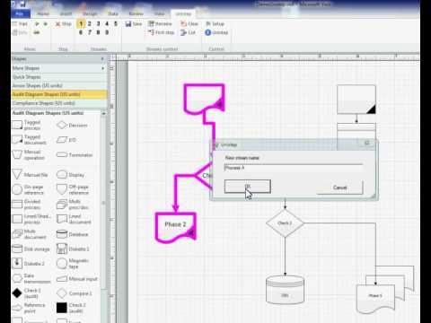Visio process diagram animation  YouTube