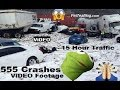 555 Car Crashes In NJ In Hours, 15 Hour TRAFFiC Becasue Of Inches Snow 😨��