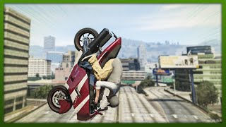 GTA 5 Stunts - Crazy Frontflip Stunt!   - (GTA V Stunts & Fails)